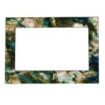 Blanco de mármol fresco del marrón azul de la text marcos magneticos de fotos