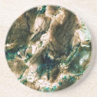 Blanco de mármol fresco del marrón azul de la text posavasos cerveza