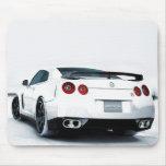 Blanco de Nissan GT-R Alfombrilla De Ratones
