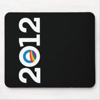 Blanco de OBAMA del ORGULLO 2012 Mouse Pads