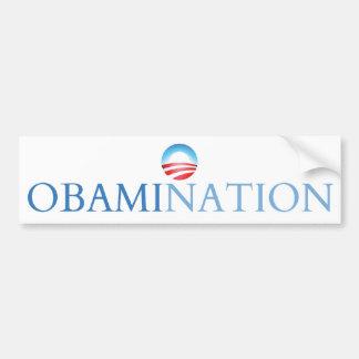 Blanco de Obamination (Obamanation) Pegatina Para Auto