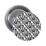 Blanco de OMNOMNOMNOM 1 Pin Redondo 5 Cm