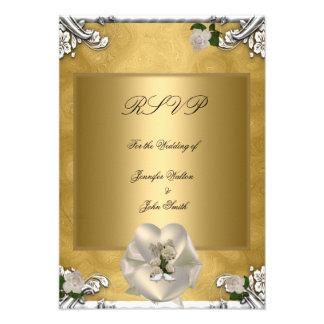 Blanco de plata subió crema elegante del oro del b comunicado personalizado