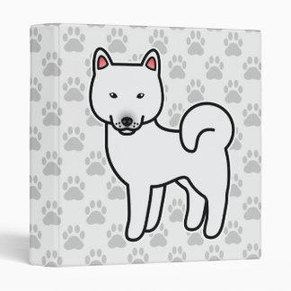 Blanco de Shiba Inu Carpeta 2,5 Cm