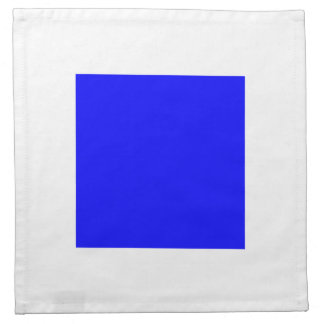 Blanco de SIERRA con el cuadrado azul Servilleta Imprimida