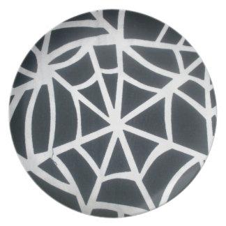 Blanco de Skeezer y St blanco y negro de las rayas Plato Para Fiesta