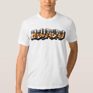 Blanco de Traxx de la Hella-Bahía (camiseta para Playera
