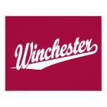 Blanco de Winchester Invitacion Personalizada