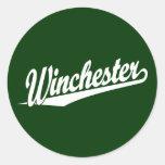 Blanco de Winchester Pegatinas Redondas