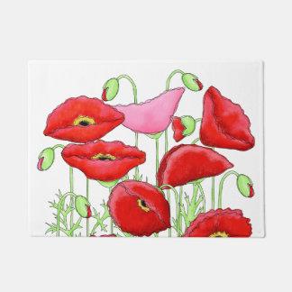 Blanco decorativo de encargo del arte rosado rojo felpudo