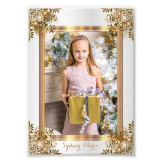 Blanco decorativo y oro - diseño de la plantilla fotografía