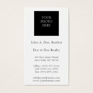 Blanco del agente inmobiliario o color tirado tarjetas de visita