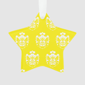 Blanco del amarillo del escudo de la familia