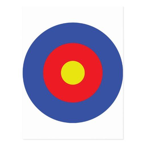 blanco del arco y de la flecha - objetivo tarjetas postales