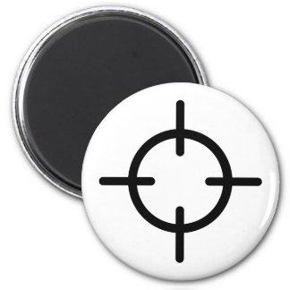 Blanco del arma de los retículos iman de nevera
