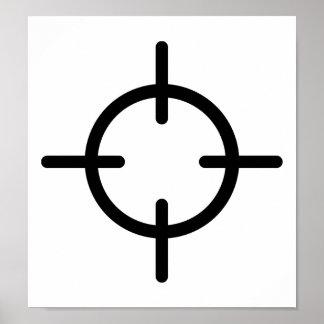 Blanco del arma de los retículos poster