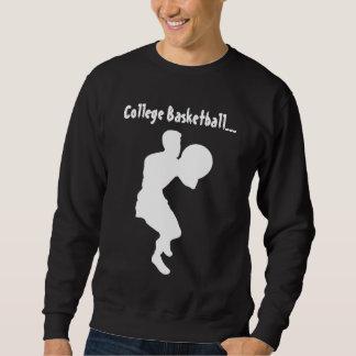 Blanco del baloncesto de la universidad (pistola) sudadera con capucha