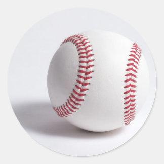 Blanco del béisbol pegatina redonda