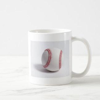 Blanco del béisbol taza básica blanca