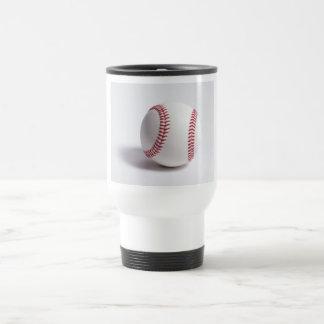 Blanco del béisbol taza de viaje de acero inoxidable
