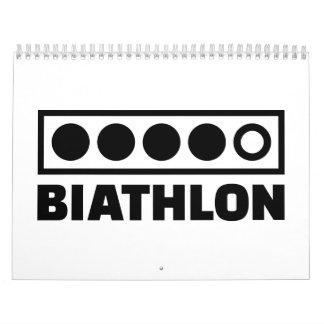 Blanco del Biathlon Calendarios De Pared