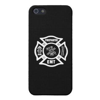 Blanco del bombero EMT iPhone 5 Carcasas