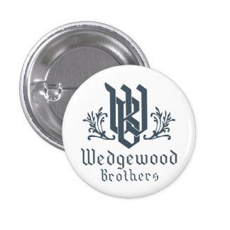 Blanco del botón de los hermanos de Wedgewood Pin