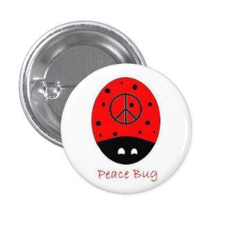 blanco del botón del insecto de la paz mini pin