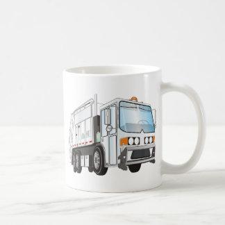 blanco del camión de basura 3d taza clásica