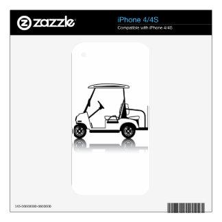 Blanco del carro de golf calcomanía para iPhone 4