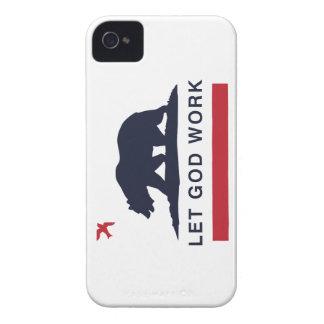 Blanco del caso del iPhone 4/4s del oso de Funda Para iPhone 4 De Case-Mate