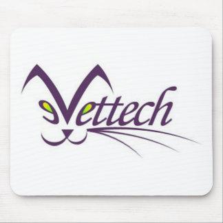 blanco del cojín de ratón del logotipo del vettech tapete de ratón