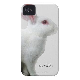 Blanco del conejo Case-Mate iPhone 4 cárcasas