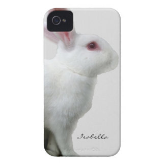 Blanco del conejo iPhone 4 Case-Mate carcasa