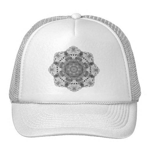 Blanco del copo de nieve gorras de camionero