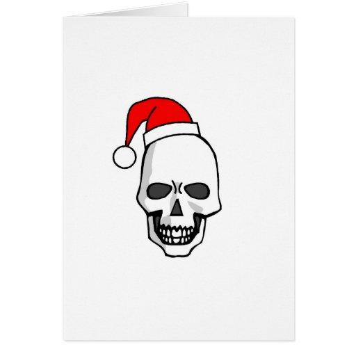 Blanco del cráneo del navidad tarjeta de felicitación