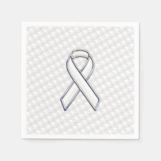Blanco del cromo en la conciencia blanca servilleta de papel