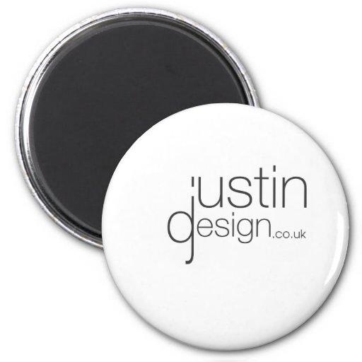 Blanco del diseño de Justin Imán Redondo 5 Cm