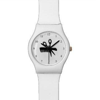 Blanco del diseño del Beautician Relojes De Mano