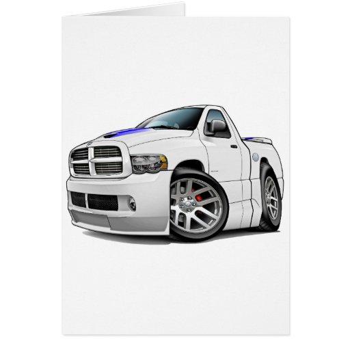 Blanco del espolón de Dodge SRT10 Felicitación