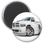 Blanco del espolón de Dodge SRT10 Imanes De Nevera