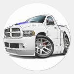 Blanco del espolón de Dodge SRT10 Etiquetas Redondas