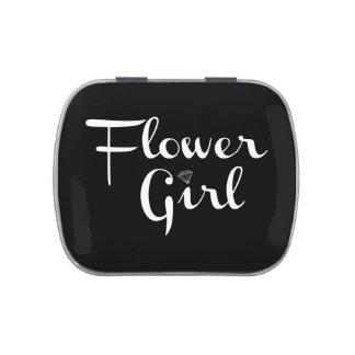 Blanco del florista en negro jarrones de caramelos