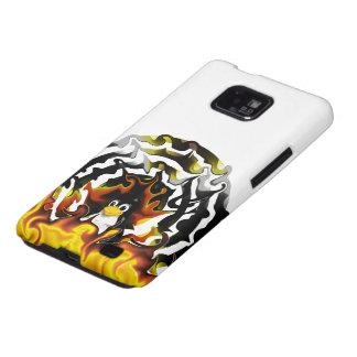 Blanco del fuego de TUX Samsung Galaxy SII Funda