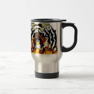 Blanco del fuego de TUX Taza De Café