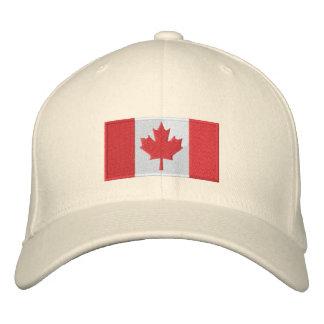 Blanco del gorra de la bandera de Canadá Gorras De Beisbol Bordadas