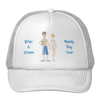 Blanco del gorra de la huésped del boda del