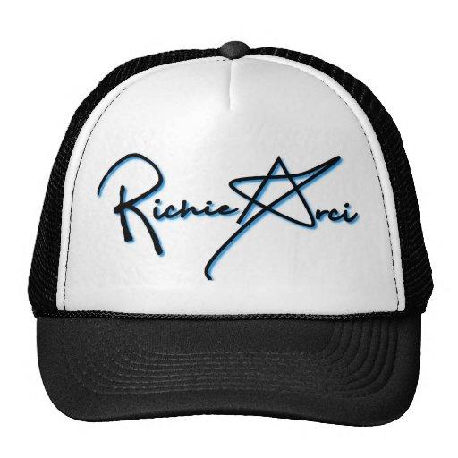 Blanco del gorra del camionero de la firma de Rich