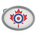Blanco del hockey de la MOD que se encrespa Canadá Hebilla De Cinturon Oval