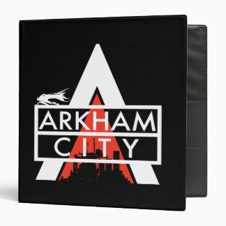 """Blanco del logotipo de la ciudad de Arkham Carpeta 1 1/2"""""""